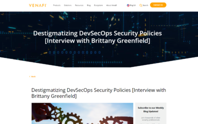Interview: Destigmatizing DevSecOps Security Policies with Brittany Greenfield