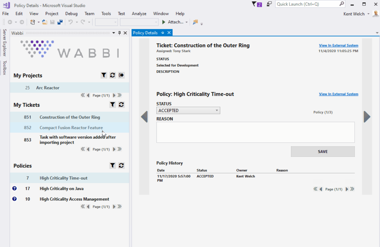 Wabbi Visual Studio SecDevOps plugin